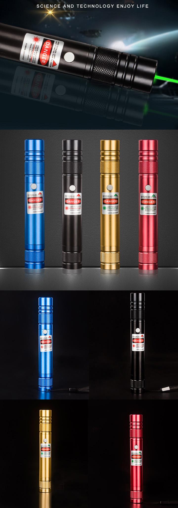 Puntatore laser verde ricaricabile USB economico e ad alta ...
